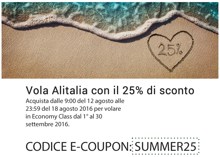 alitalia e-coupon summer25