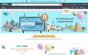 Visita lo shopping online di Amazon Prime Day
