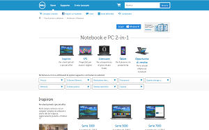 Visita lo shopping online di Dell Notebooks
