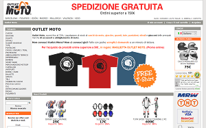 Visita lo shopping online di Outlet Moto