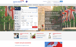 Visita lo shopping online di British Airways