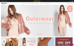 Visita lo shopping online di Forever21