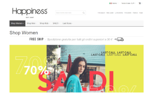 Visita lo shopping online di Happiness