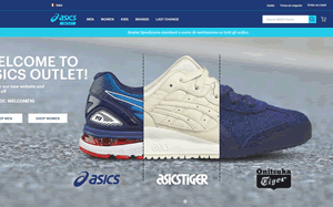 Visita lo shopping online di Asics Outlet