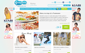 Visita lo shopping online di Groupalia